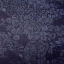 結城紬らしい紺藍の迫力あるデザイン 本場結城紬100亀甲細工