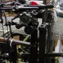 半自動織機にて絣のショール製織 YUKI OKUJUN