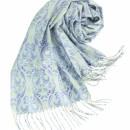 12 伝統技法「絣」による柄付け。プリントとは異なる奥行きが魅力。 フルーリ